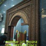 Mihrab Jati Kaligrafi 3 Dimensi