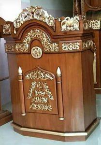 Mimbar Podium Ukir Kaligrafi Jati