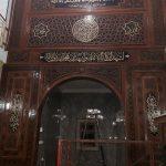 Mihrab Jati Minimalis Lengkung