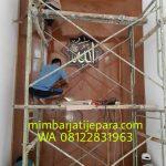 Mihrab Jati Minimalis Kerucut