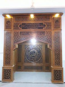 Mihrab Minimalis Jati