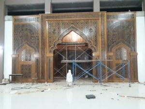 Mihrab Jati Ukir Minang