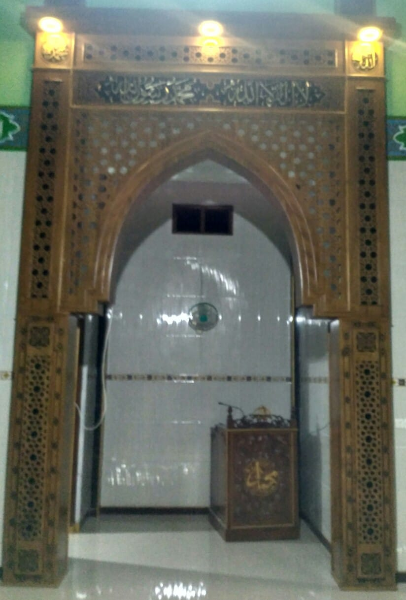 Mihrab Jati Lengkung Kubah
