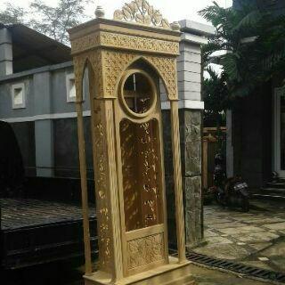 Jam Jati Minimalis 4 Pilar (unfinished)