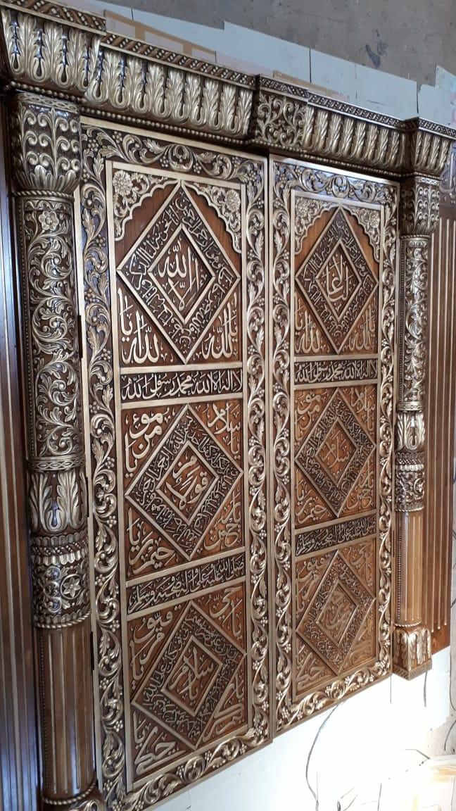 Pintu Jati Ukir motif Afrika (finished)