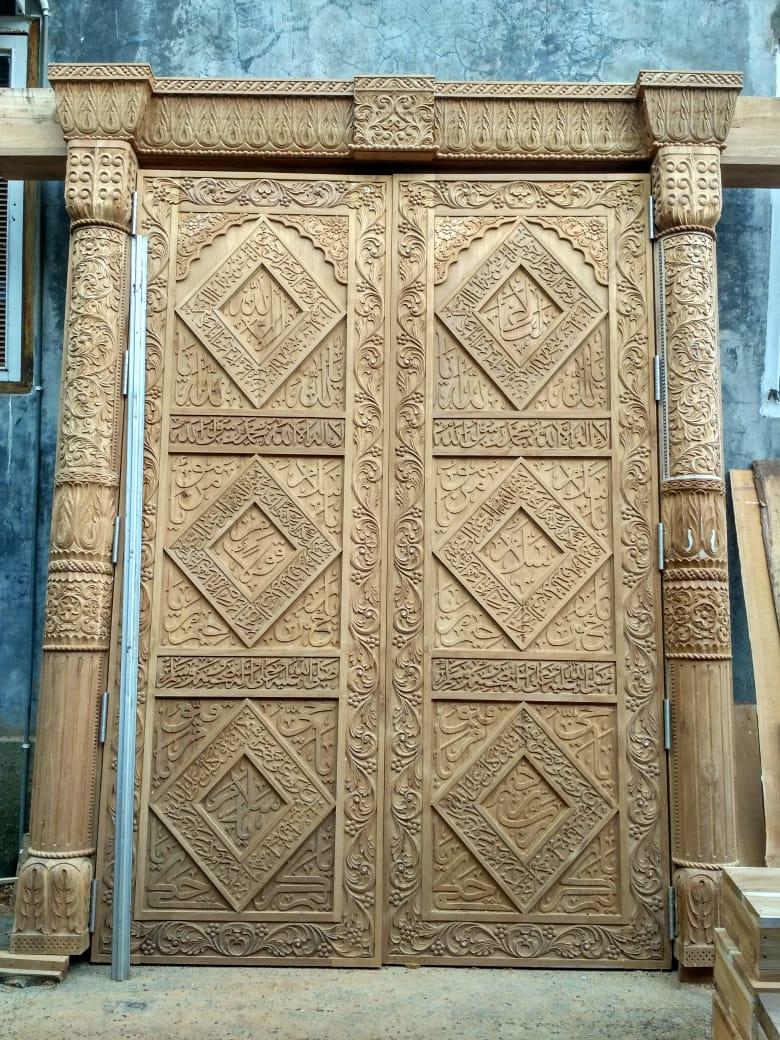 Pintu Jati Motif Afrika (unfinished)