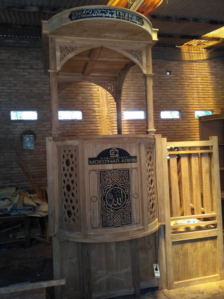 mimbar jati masjid Lamongan unfinished